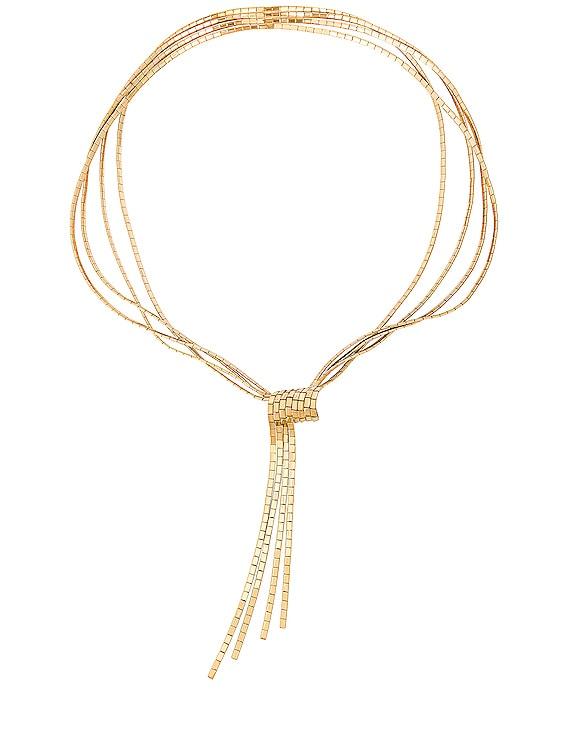 Flat Necklace in Argento Oro Giallo