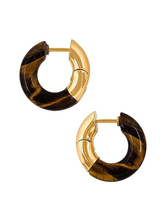 Orecchini Earrings in Tiger Eye