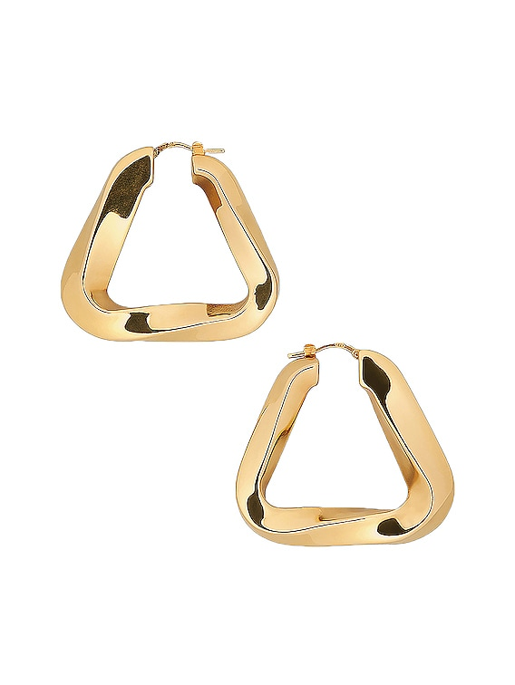 Triangle Earrings in Argento Oro Giallo