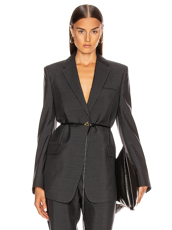 Tailored Blazer in Charcoal Melange