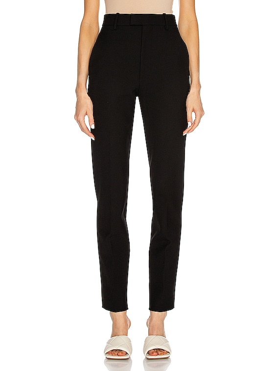 Tailored Slit Pant in Black