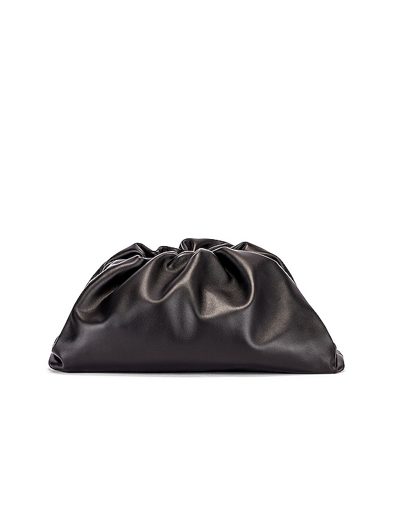 Butter Leather The Pouch Clutch in Black & Silver