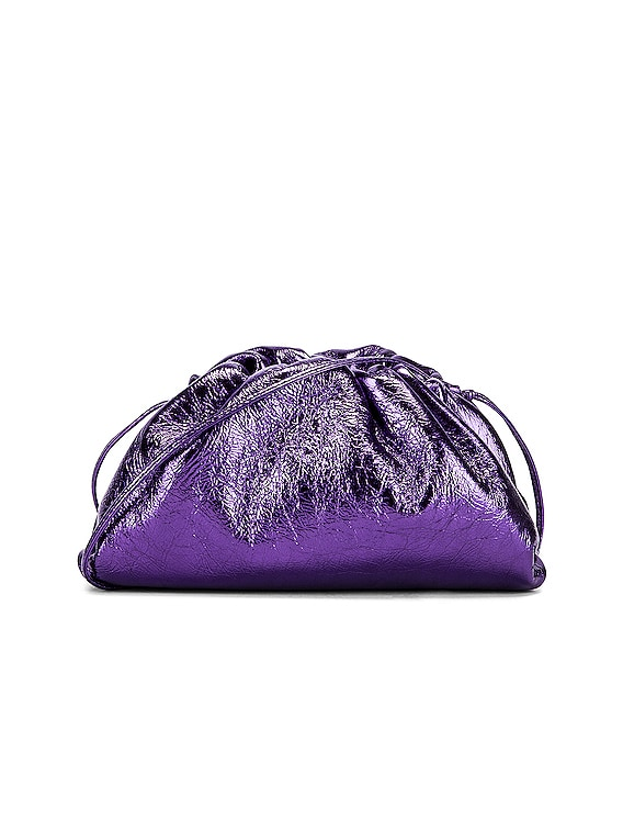 Wrinkled The Pouch 20 Clutch Bag in Viola & Silver