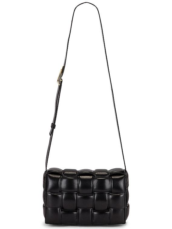 Padded Cassette Bag in Black & Gold