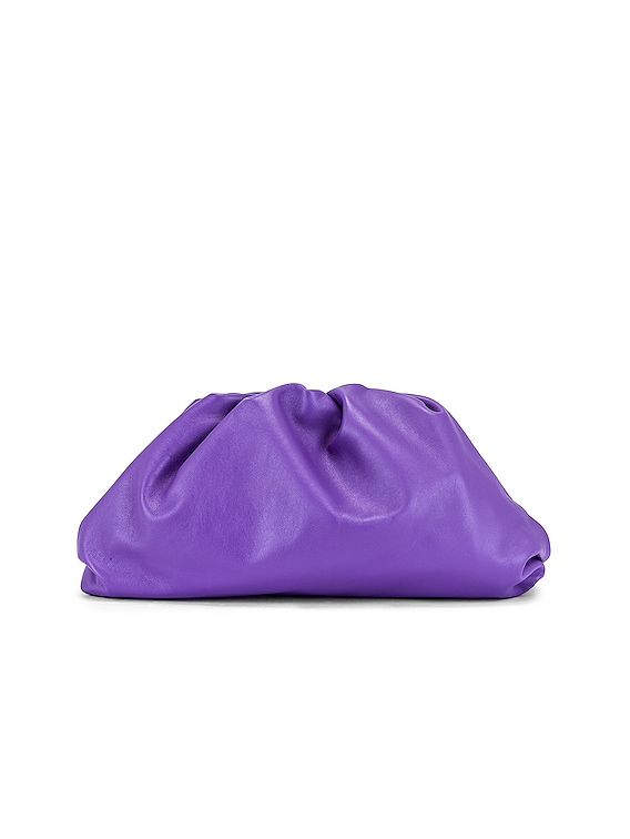 The Pouch Clutch in Purple & Silver