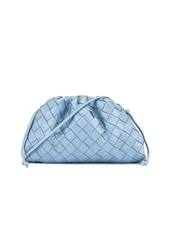 Woven The Pouch 20 Clutch Bag in Ice & Silver