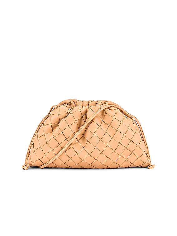Woven The Pouch 20 Clutch Bag in Almond & Gold