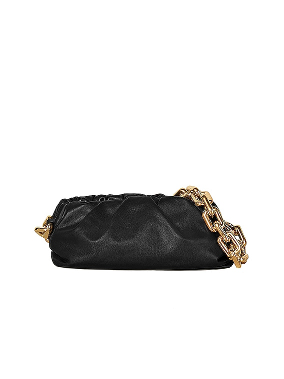 The Pouch Chain Bag in Black & Gold