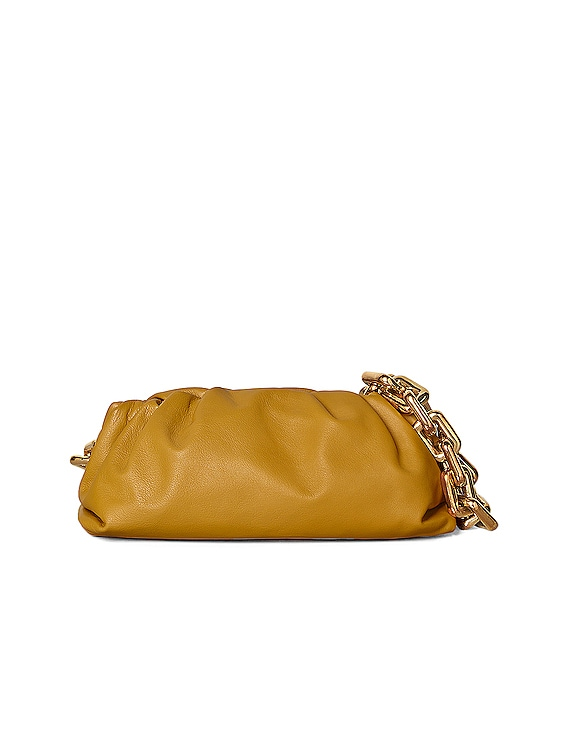 The Pouch Chain Bag in Ocra & Gold