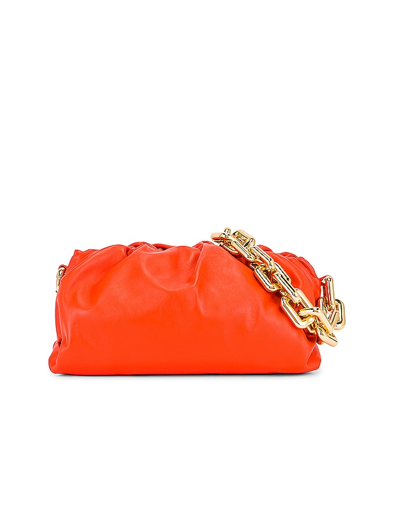 The Pouch Chain Bag in Orange & Gold