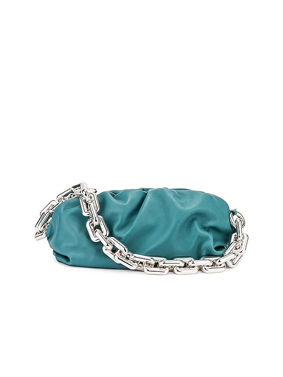 The Chain Pouch Bag in Linoleum & Silver