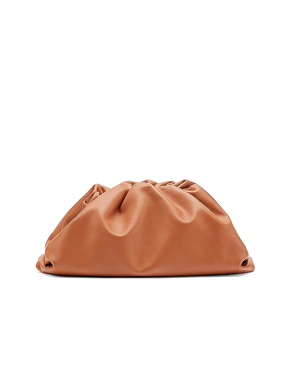 Large Pouch Clutch in Clay & Gold