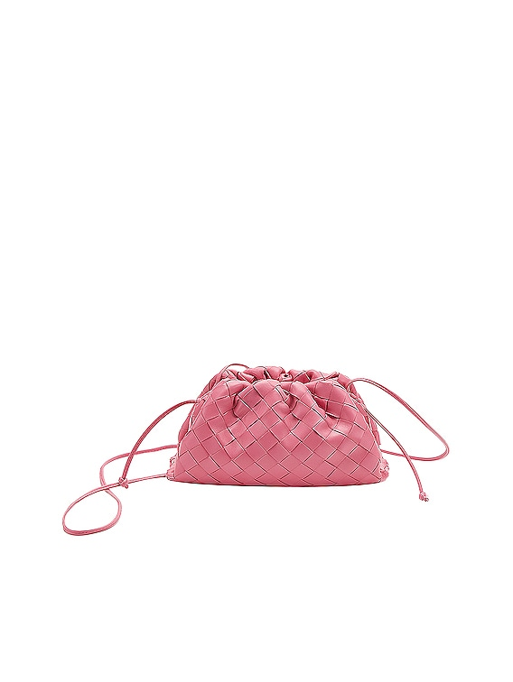The Mini Pouch Crossbody Bag in Pink & Silver