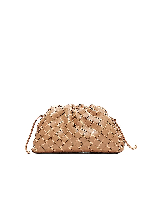 The Mini Pouch Crossbody Bag in Sandalwood & Gold