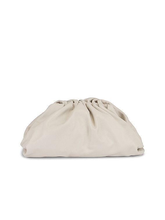 The Pouch Clutch in Chalk & Gold