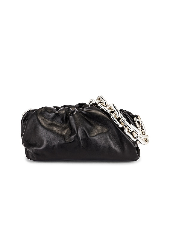 The Chain Pouch Bag in Black & Silver