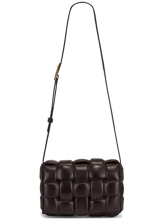 Padded Cassette Crossbody Bag in Fondente & Gold