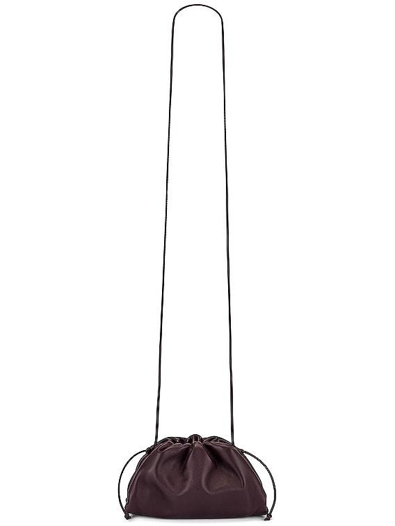The Mini Pouch Crossbody Bag in Grape & Gold