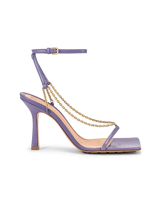 Ankle Strap Chain Sandals in Lavender