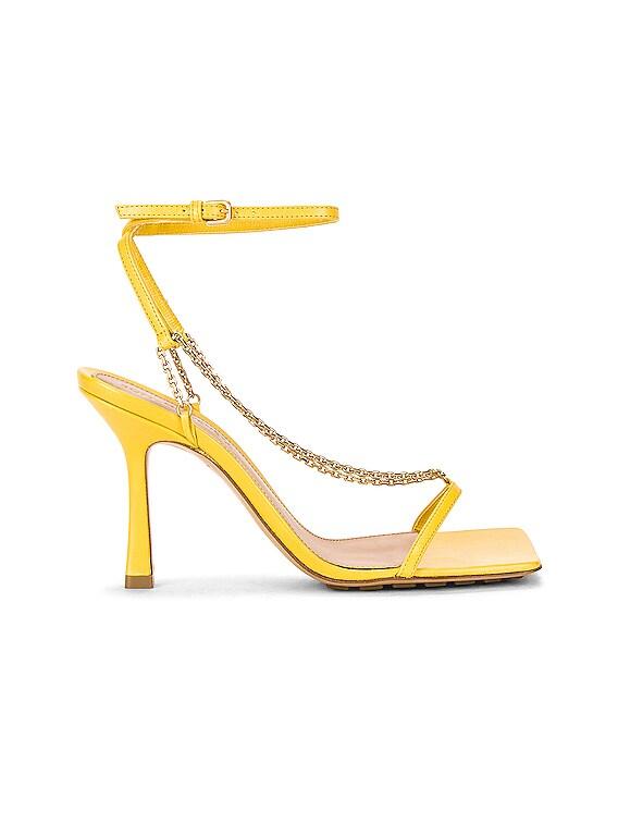 Stretch Chain Sandals in Buttercup