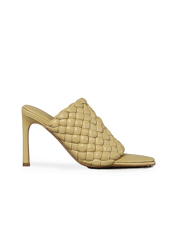 Padded Leather Sandals in Tapioca