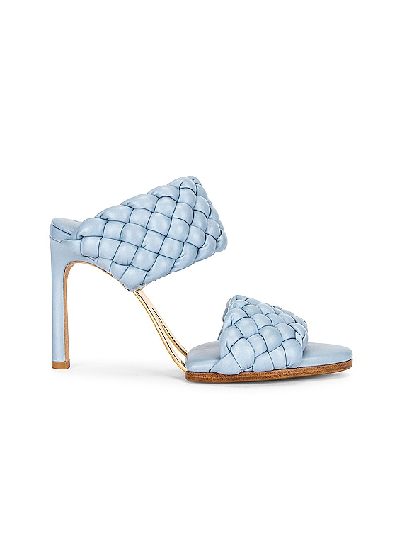Lido Leather Woven Sandals in Ice