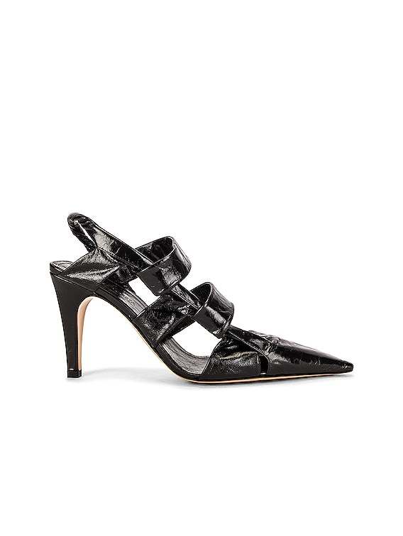 The Point Slingback Sandals in Black