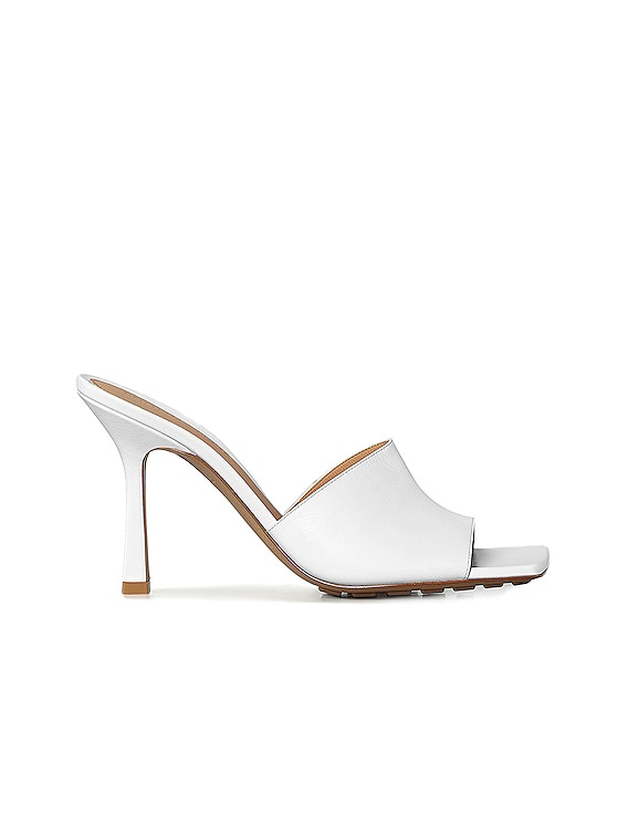 Leather Mules in Optic White