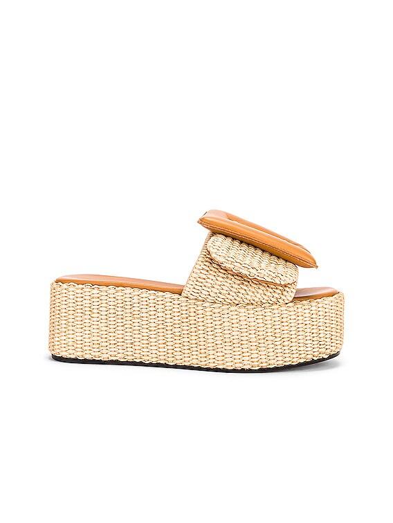 Puffy Sandal Platform in Caramel