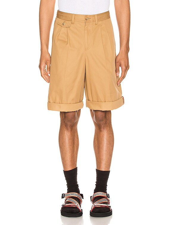 Dan Icon Stripe Short in Camel