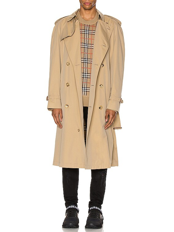 Heritage Refresh Raglan Trench Coat in Honey