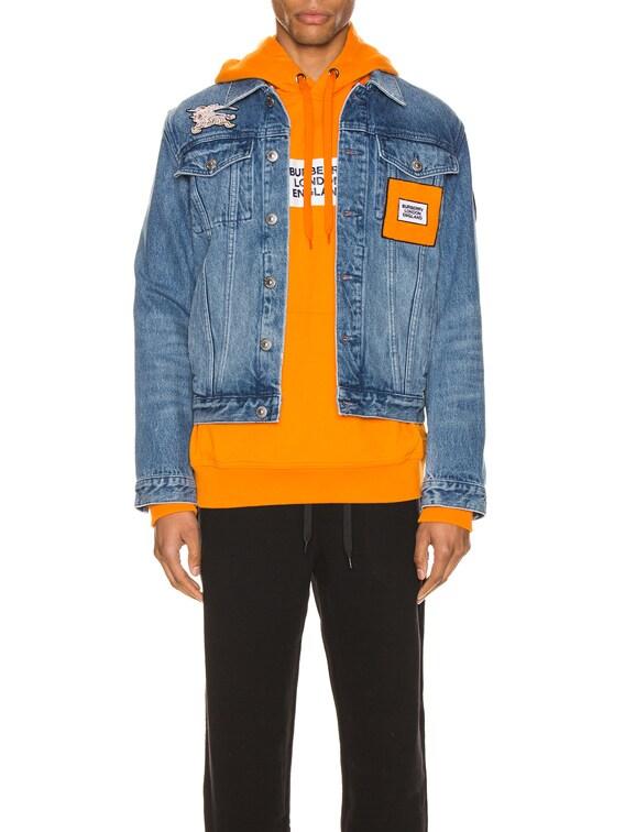 Satchwell Jacket in Light Indigo Blue