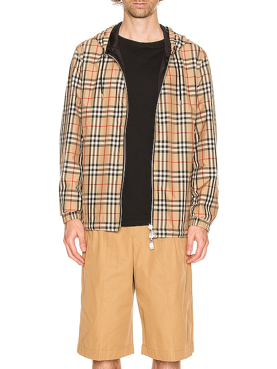 Stretton Reversible Jacket in Archive Beige IP Check