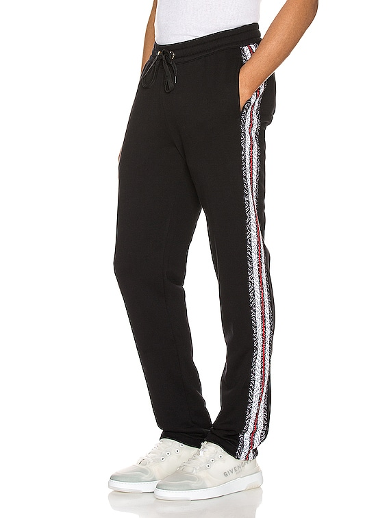 Arnold Monogram Stripe Sweatpant in Black