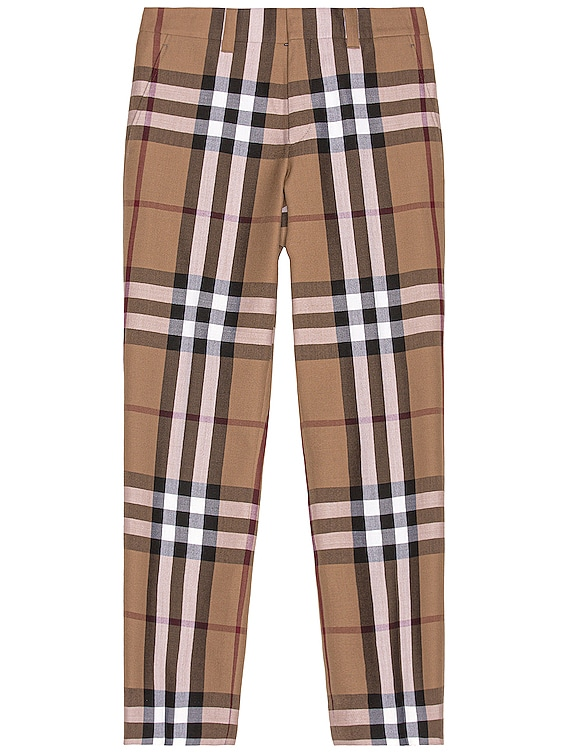 Check Trousers in Birch Brown Check