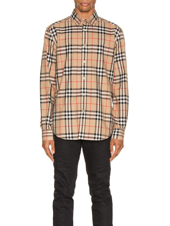 Long Sleeve Shirt in Archive Beige Check