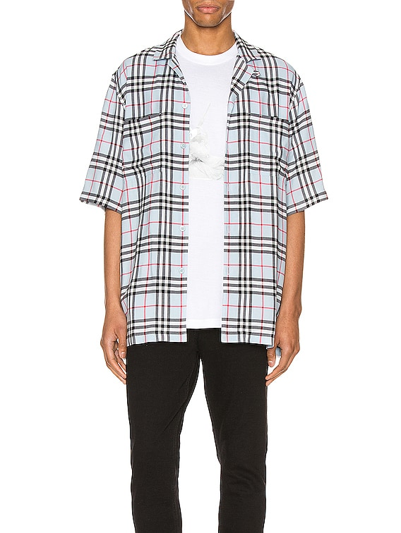 Raymouth Button Down Shirt in Pale Blue IP Check