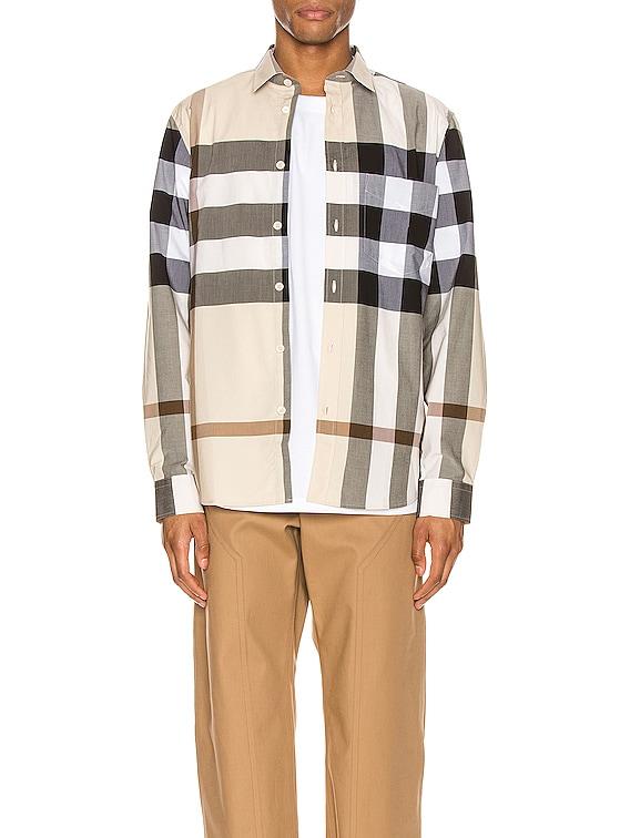 Somerton Long Sleeve Shirt in Modern Beige IP Check