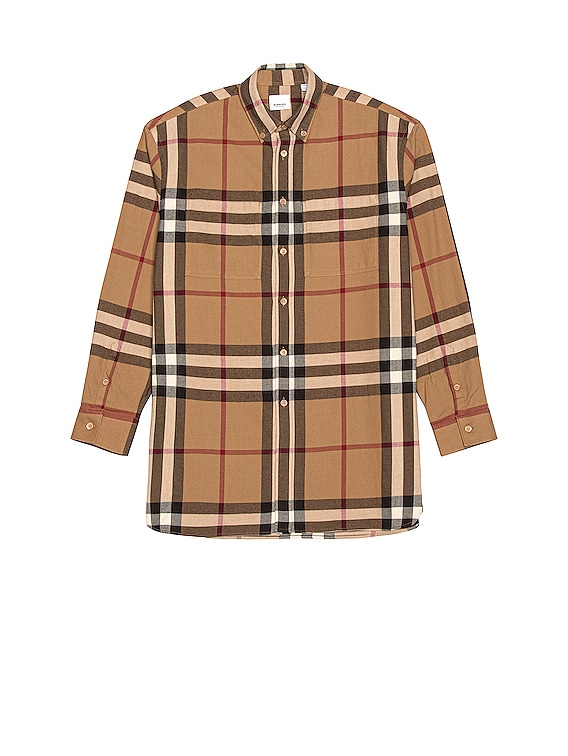 Long Sleeve Fit Flannel in Multi Check