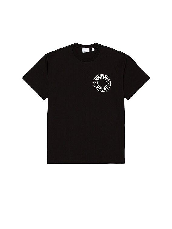 Circle Logo Tee in Black