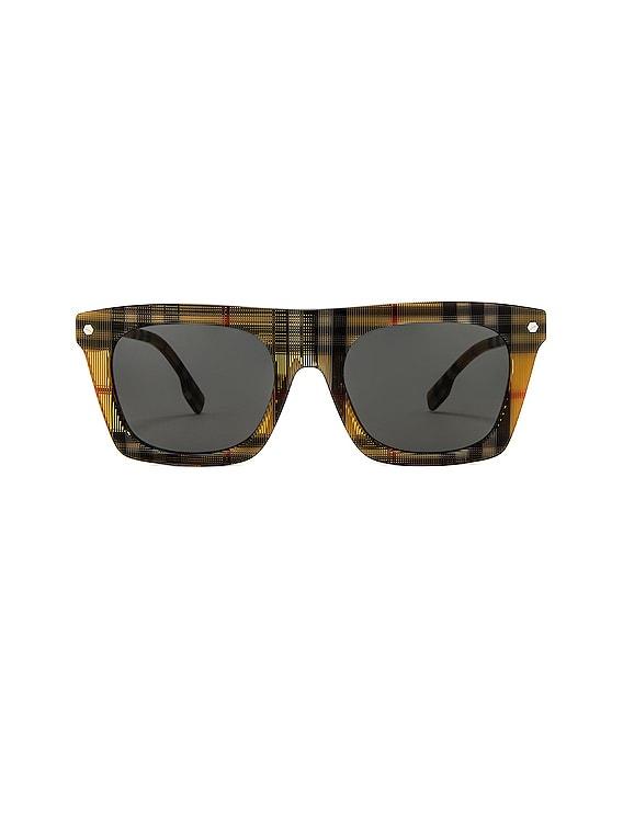 Camron B Stripe Sunglasses in Vintage Check & Silver Bolt