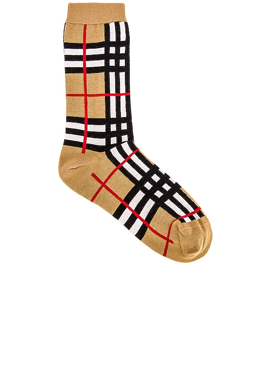 Classic Check Sock in Archive Beige