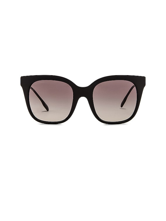 Charlotte B Monogram Sunglasses in Black & Grey Gradient