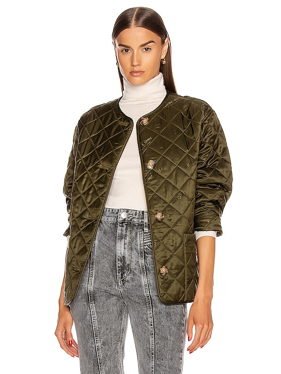Bardsey Print Jacket in Olive