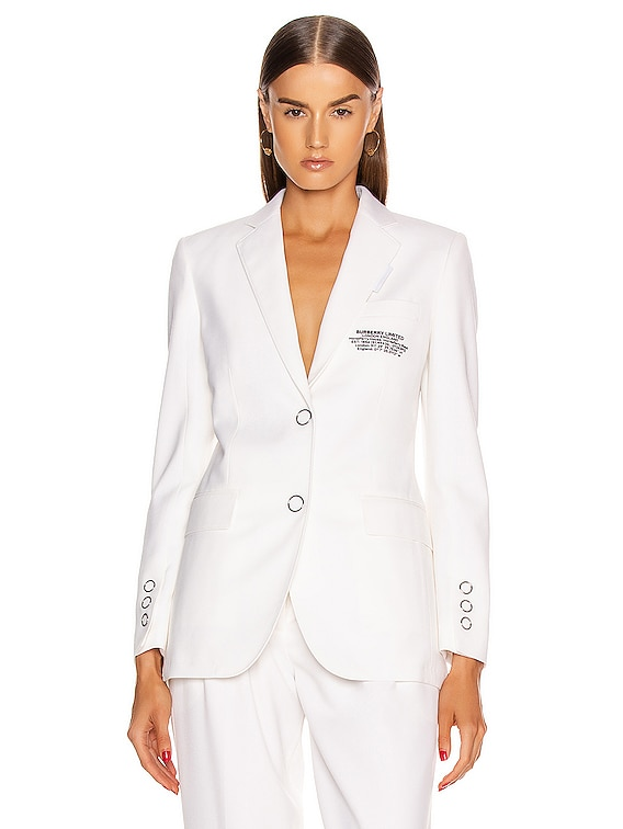 Sidon Tailored Blazer in Optic White