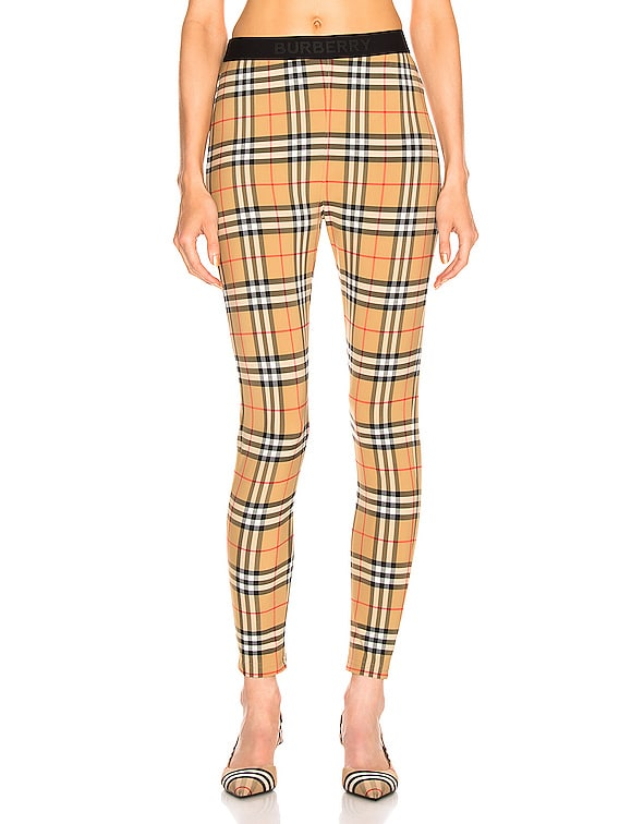Belvoir Legging in Antique Yellow Check