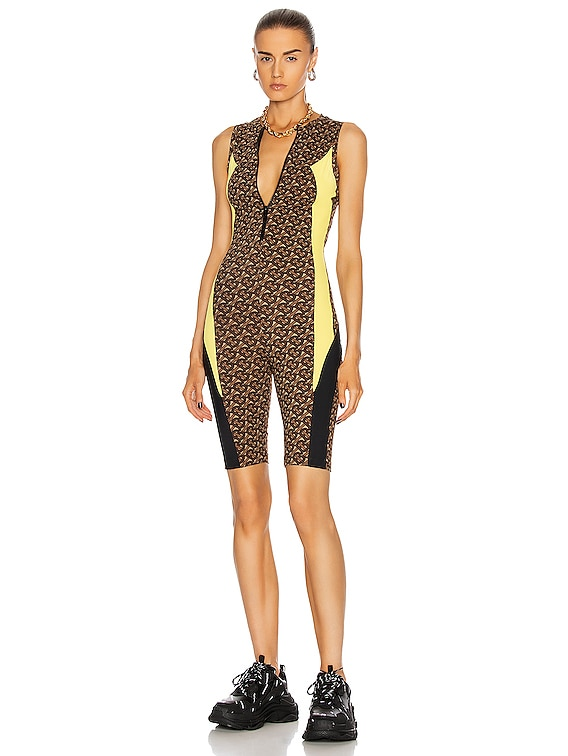 Kelsey Cycle Romper in Bridle Brown