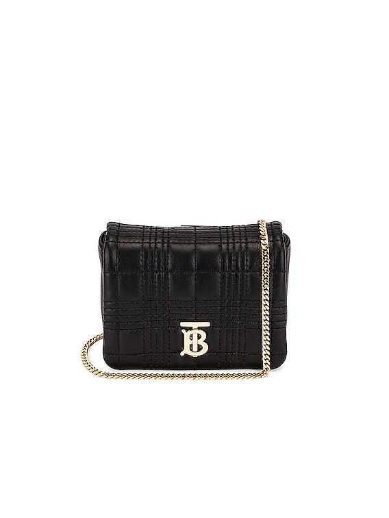 Monogram Square Lola Crossbody Bag in Black