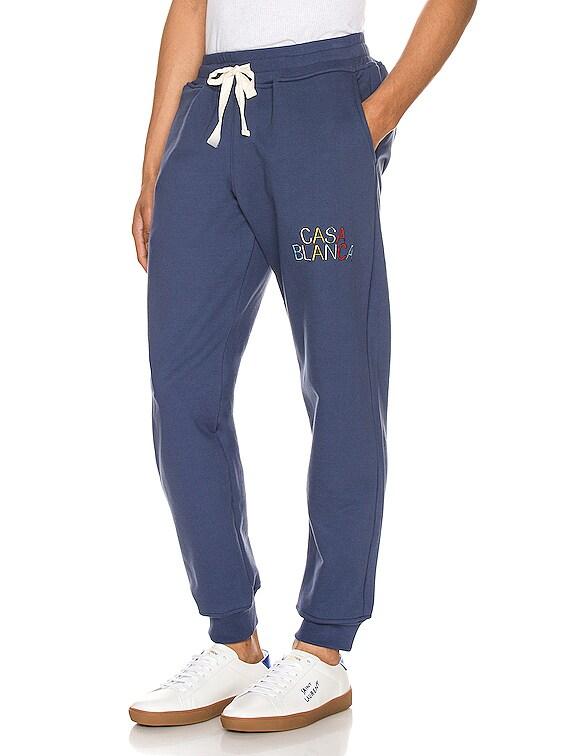 Casa Arch Logo Sweatpants in Navy