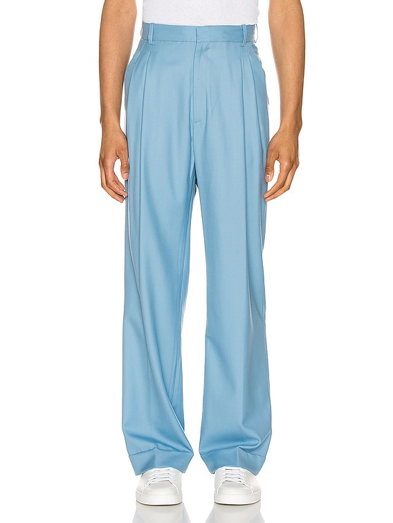 Rio Pleated Trousers in Light Blue